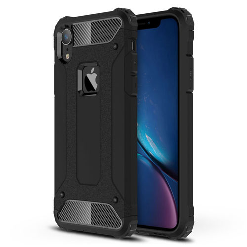 Military Defender Shockproof Armour Case for Apple iPhone Xr - Black